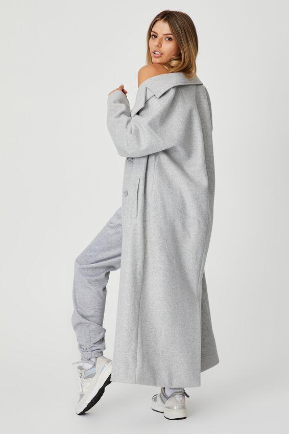 Maxi Coat, GREY MARLE