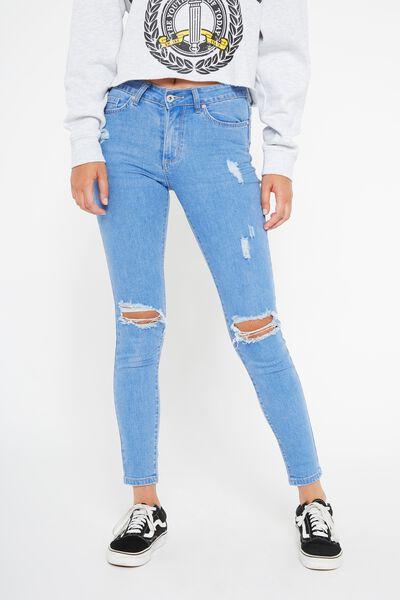 The Mid-Rise Skinny Jean, ICEBERG BLUE_WORN