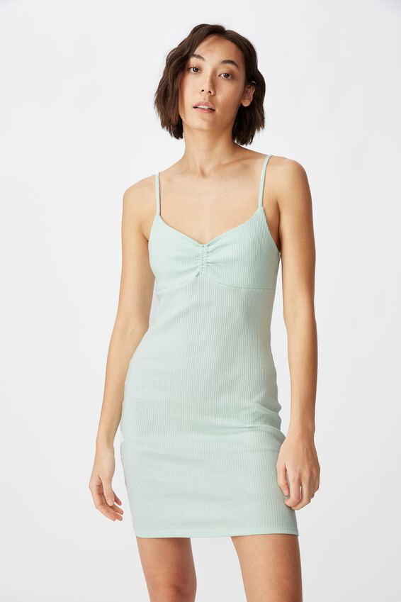 Ruched Front Strappy Dress, SOOTHING SEA