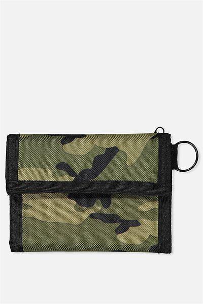 Velcro Wallet, CAMO_BLK