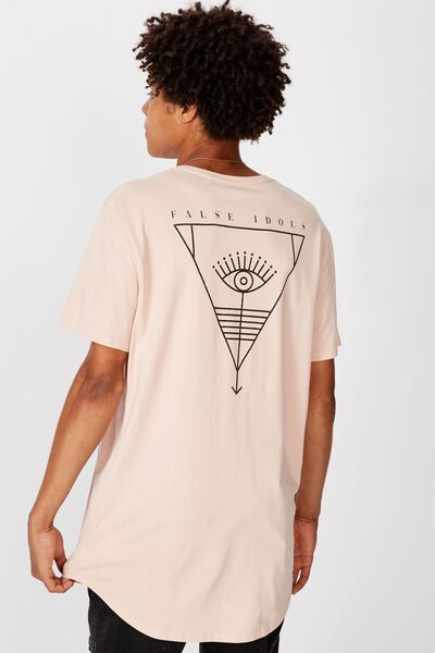 Curved Graphic T Shirt, SANDY PEACH/OTHER TIMES