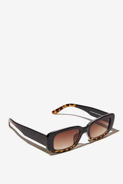Mia Mode Sunglasses, BLACK TORT GRAD