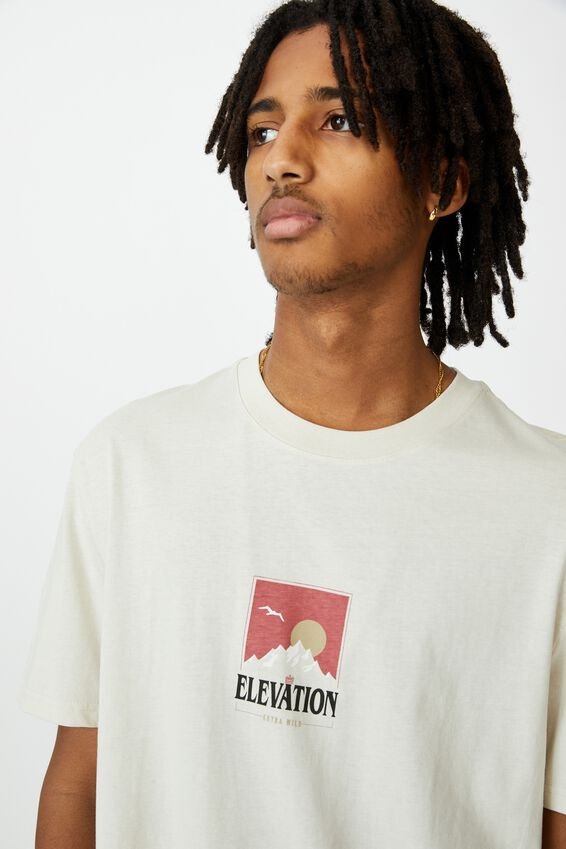 Regular Graphic T Shirt, IVORY/EXTRA MILD