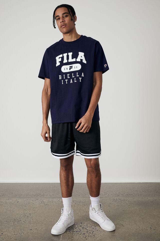 Fila Lcn T Shirt, USA NAVY/FILA ITALY
