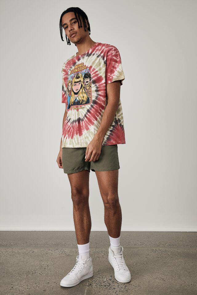 Regular Pop Culture T Shirt, LCN STE MULTI TIE DYE/RHODES MIND CONTROL