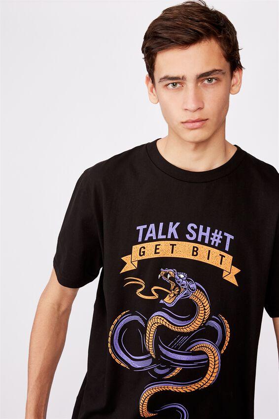 Regular Graphic T Shirt, BLACK/GET BIT