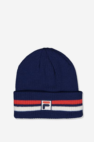 Fila Lcn Multi Stripe Beanie, NAVY_MULTI STRIPE