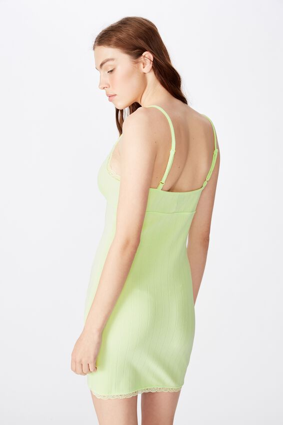 Crossover Front Dress, LIME CREAM