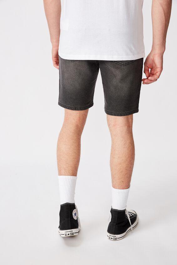 Knit Denim Short, BLACK