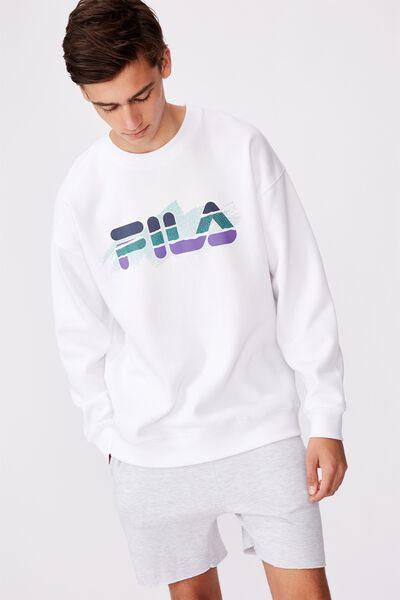 Fila Lcn Graphic Crew, WHITE/STRAIGHT SETS