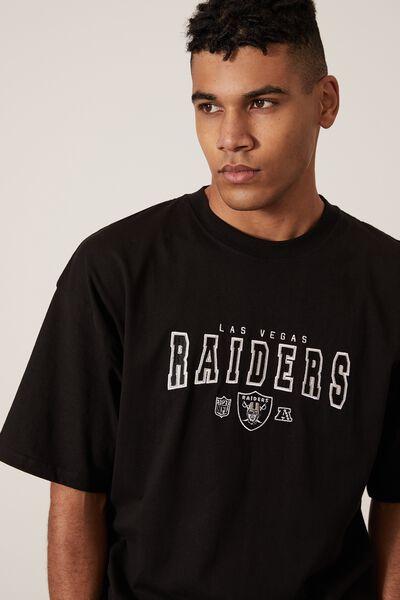 Oversized Nfl T Shirt, LCN NFL WASHED BLACK/RAIDERS EST