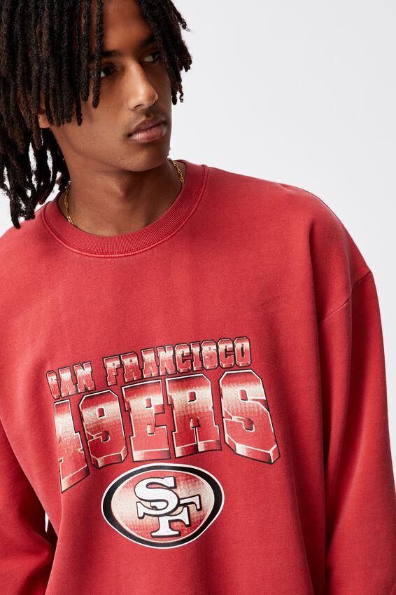 Oversized Nfl Crew, LCN NFL WASHED VINTAGE RED/49ERS