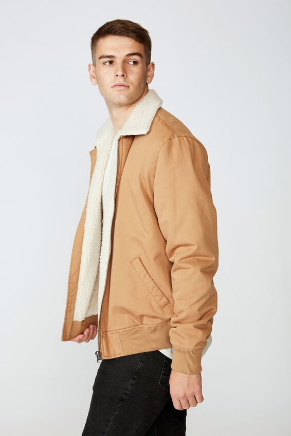 Sherpa Collar Bomber, TAN