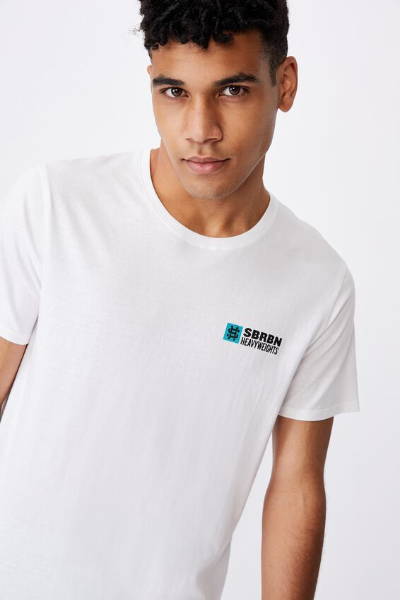 Curved Graphic T Shirt, WHITE/SBRBN HEAVYWEIGHTS