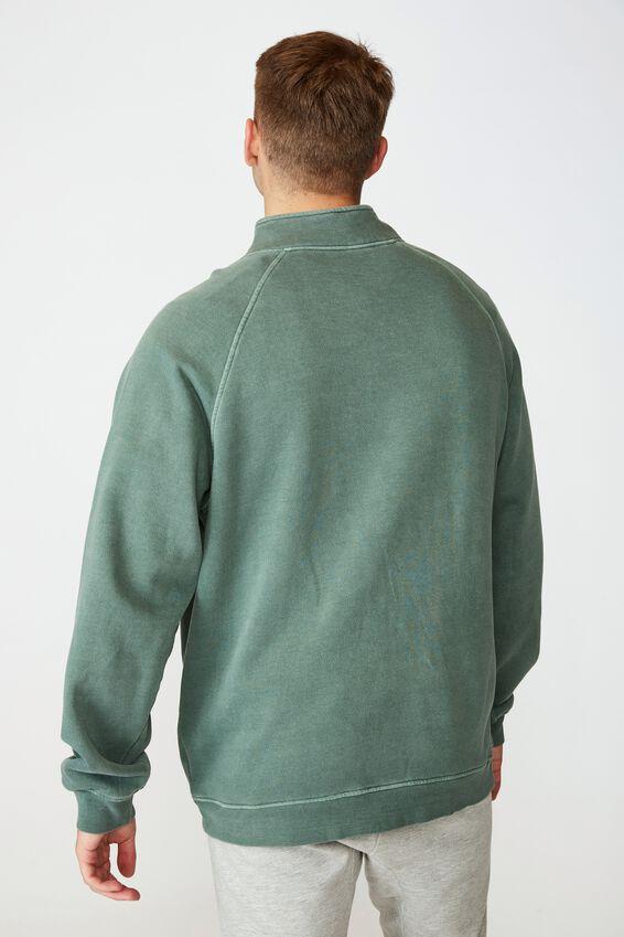 Quarter Zip Fleece, WASHED KHAKI
