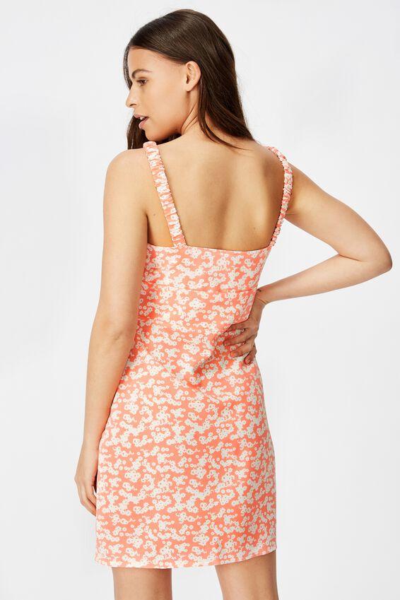 Sweetheart Mini Dress, TAYLOR DITSY CORAL