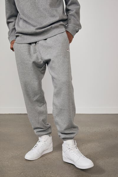 Fila Lcn Classic Relaxed Track Pant, MID GREY MARLE/FILA