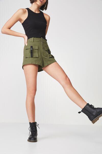 Multi Pocket Short, KHAKI