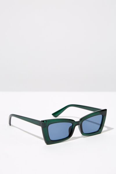 Angular Rec Sunglasses, PINE_BLUE