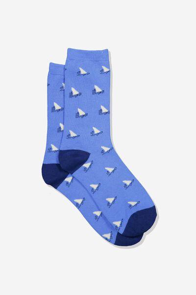 Jersey Sock, SHARKFIN YARDAGE