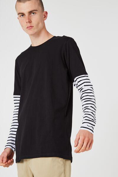Ls Stripe 2 For, BLACK/WHITE