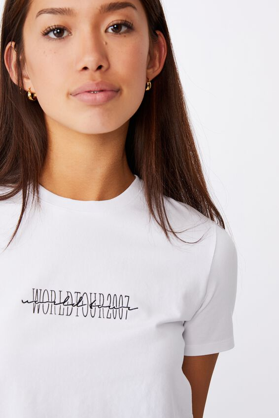 Fitted Graphic T Shirt, WHITE/WORLD TOUR 2007