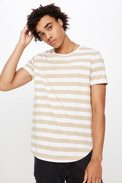 Curved Stripe T Shirt, OXFORD STRIPE