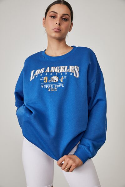 Lcn Nfl Oversized Graphic Crew, LCN NFL VICTORIA BLUE/LOS ANGELES