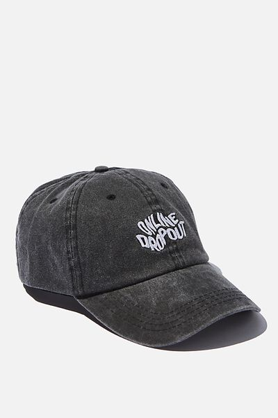 Dad Cap, ONLINE DROPOUT/WASHED BLACK