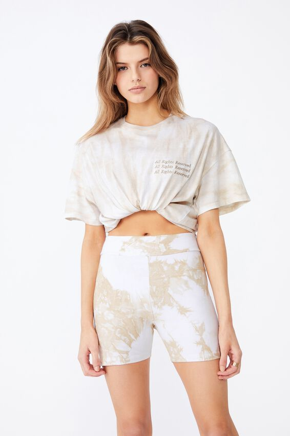Super Relaxed Graphic Tee, NEUTRAL TIE DYE/ALL RIGHTS RESERVED