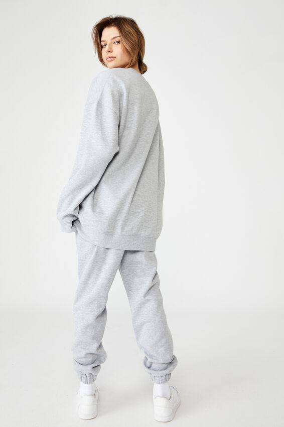 Oversized Graphic Crew, GREY MARLE/DENVER COLARADO