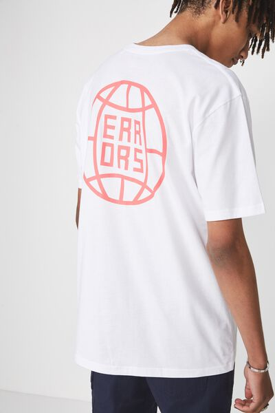 Graphic T Shirt, WHITE/WORLD OF ERRORS