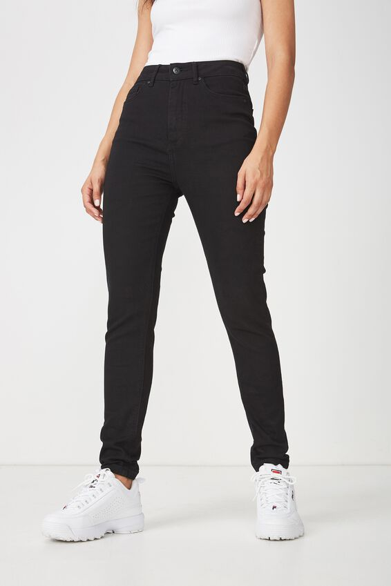 The High Rise Skinny Jean 3, BLACK
