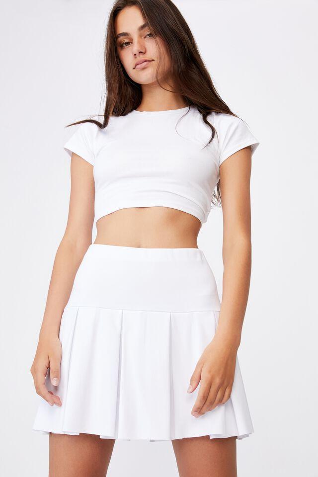 Tennis Skirt, WHITE
