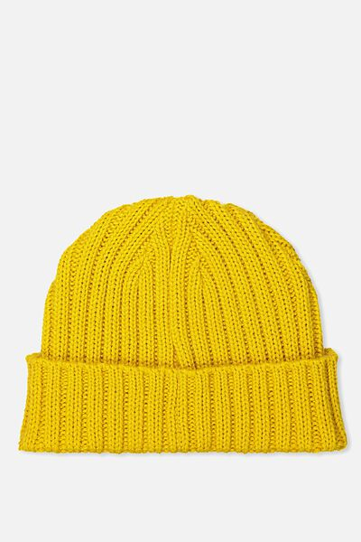 Fishermans Beanie, OLD GOLD