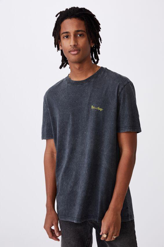 Regular License T Shirt, LCN CAR W B /RICK AND MORTY MONSTERS