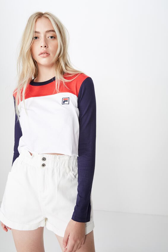 Fila Raw Edge Graphic Top, LYCHEE