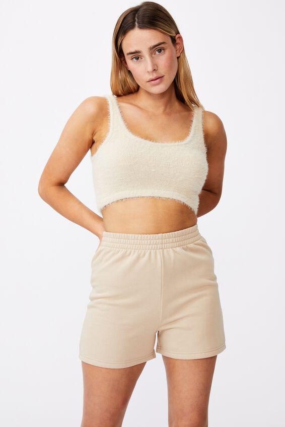 Hype Fleece Short, HUMUS