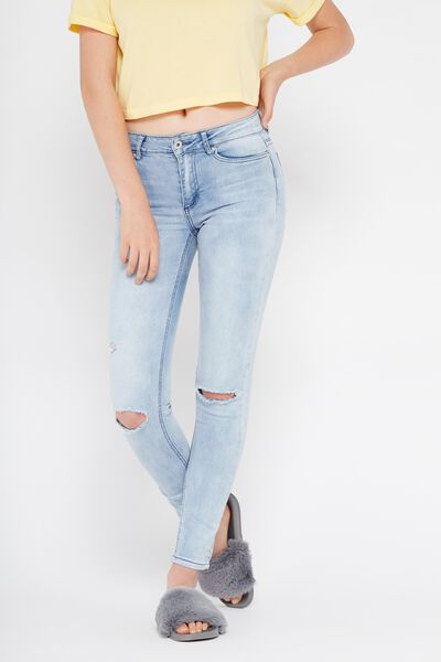 The Mid-Rise Skinny Jean, SUPER BLUE_WORN