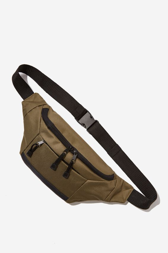 Square Sling Bag, KHAKI