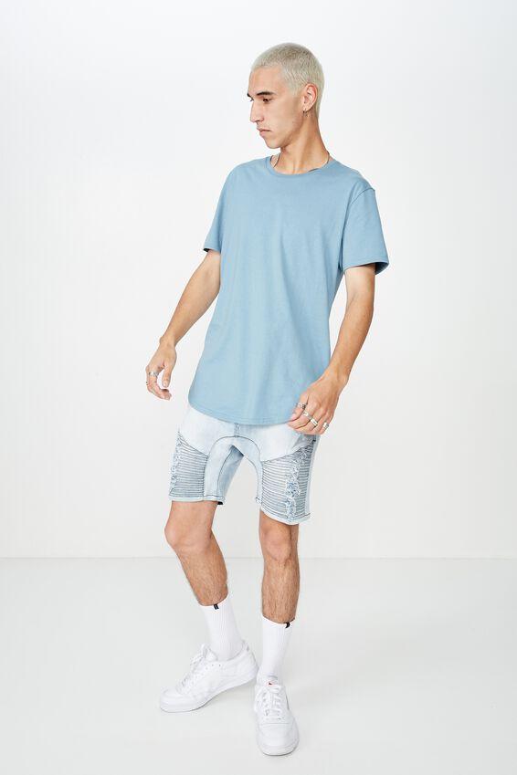 Curved T Shirt, SEA BLUE