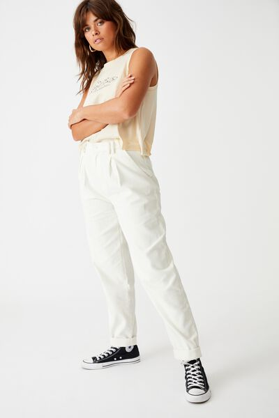 Cord Slouch Pant, CREAM