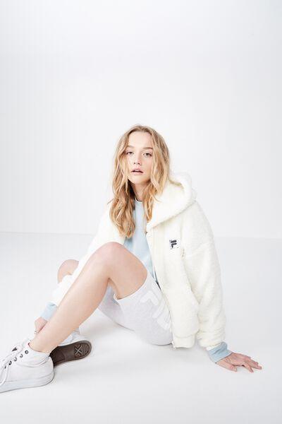 Fila Lcn Plush Jacket, OFF WHITE