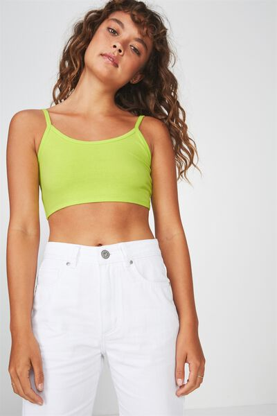 Ultra Scoop Neck Crop Tank, ACID LIME