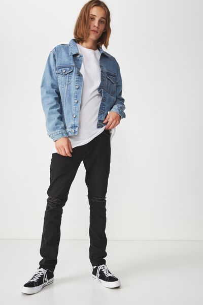 Denim Jacket, LIGHT INDIGO