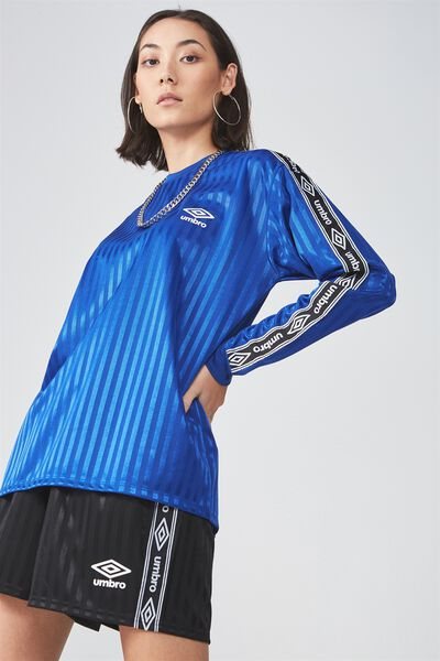 Umbro Lcn Long Sleeve Soccer Top, SURF THE WEB WITH SIDE TAPE