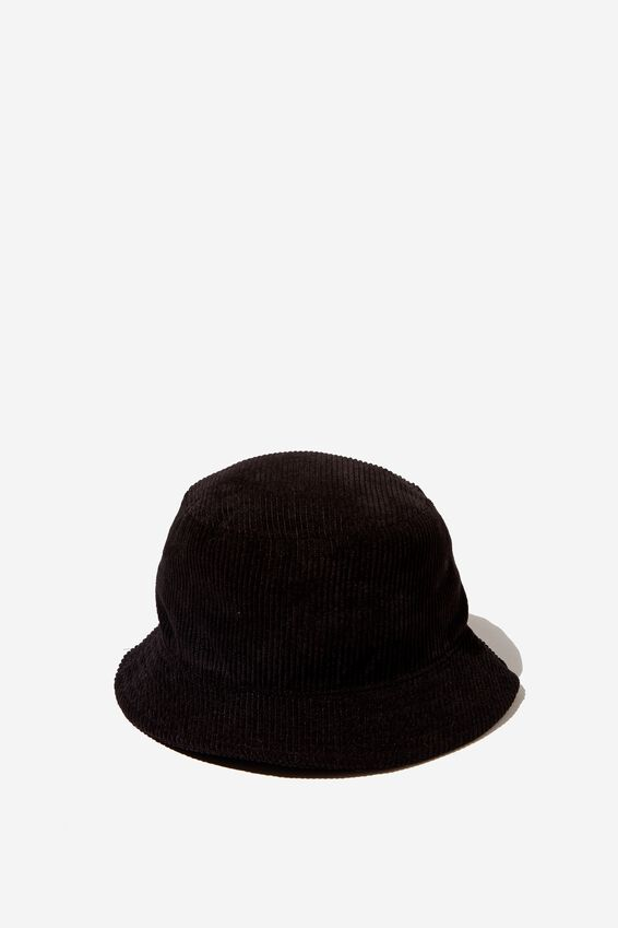 Cord Bucket Hat, BLACK