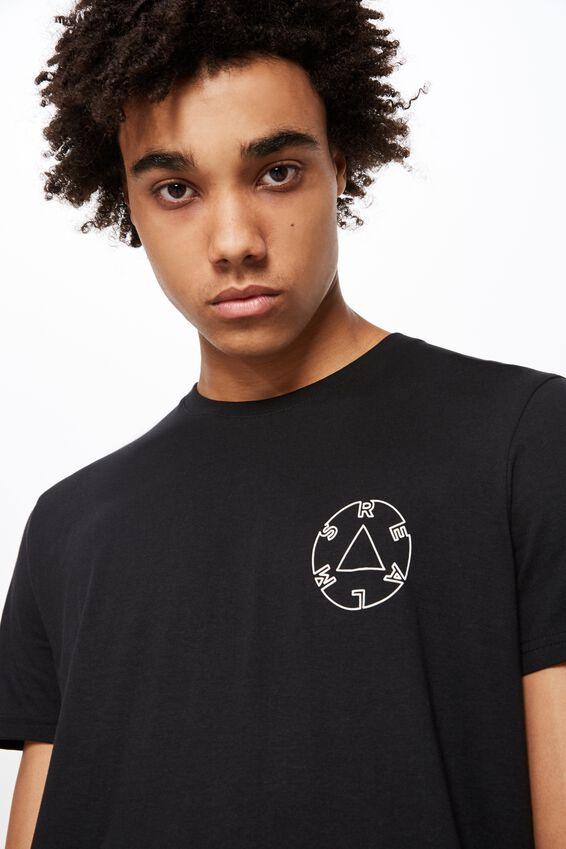 Slim Graphic T Shirt, BLACK/ROUND REALMS