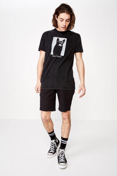 Slim Graphic T Shirt, WASHED BLACK/BARKS