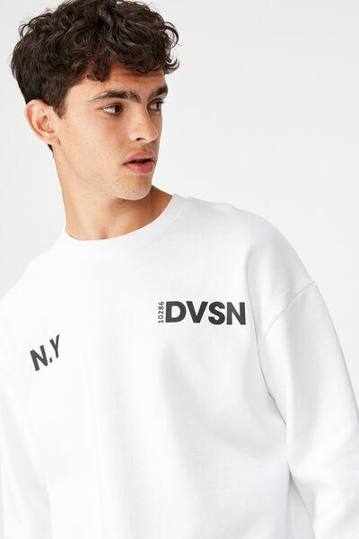Oversized Graphic Crew, WHITE/NY DVSN